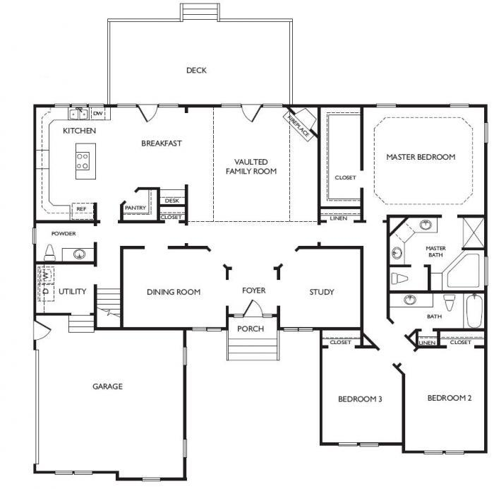 Cypress Floorplan  Virginia Beach  LR Hill Custom Builders